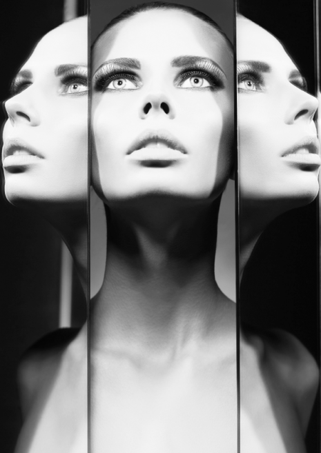 Woman And Mirrors